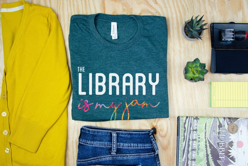 c8842be4ee1 The Library is my Jam Librarian T-shirt Super-Soft