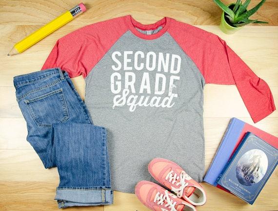 Grade Level Squad Teacher Shirt | 3/4 Sleeve Raglan | Kindergarten, First Grade, Specials, Second Grade Level | Elementary Teacher Tshirt