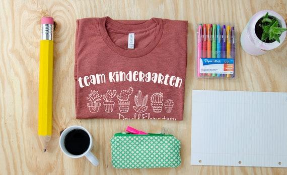 Cute Team Cactus Grade Level Unisex Teacher T-shirt | First Grade Kindergarten Level Shirt | Elementary Teacher Shirt Cacti | Any Grade