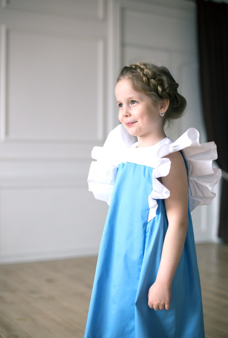 1c8aaef6902fef Niebieska sukienka dla dziewczynek suknia urodzinowa | Etsy