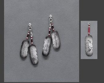 E4, E5, E6 The ORIGINAL BONE FEATHER Jewelry! Earrings shown in Immature Bald Eagle