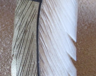 Silver Hawk Studio ~ The ORIGINAL BONE FEATHER Jewelry! Necklace shown in Pintail Duck