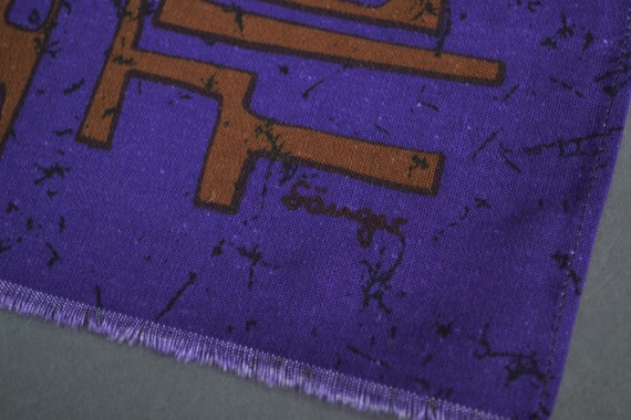 60-007-003 Table Runner Fabric design Waltraud S\u00e4nger vintage original 70s Mid Century