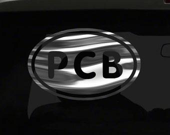 Panama City Beach PCB FL Sticker LAVA Car Cup Laptop Window Bumper Oval Decal