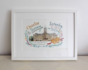 Wedding Venue Illustrations - Made to Order