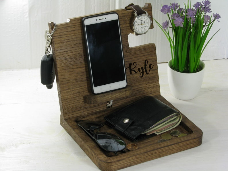 Organizer Docking Station Husband Gift Groomsmen Mens
