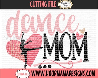 Ballet SVG Design Cutting File, Dance Mom, SVG DXF eps and png Files for Cutting Machines, Ballerina Dancer
