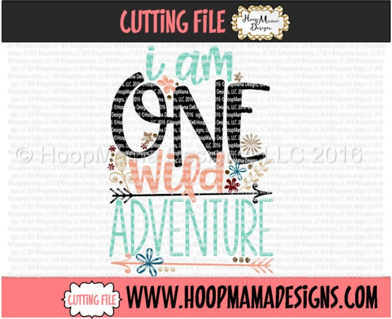 af400a77 I Am ONE Wild Adventure Birthday SVG DXF eps and png Files for | Etsy