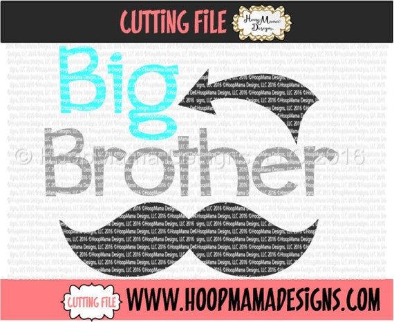 Big Brother With Mustache And Arrow Swirls Svg Dxf Eps And Png Etsy