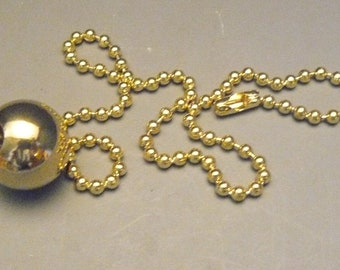 """3//4/"""" Brass Ball with 26/"""" Pull Chain Fan or Light Fixture Lamp Lighting PC6"""
