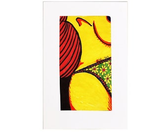 """Nudle #36 [2.4x4.4"""" on 4x6"""" paperboard]"""