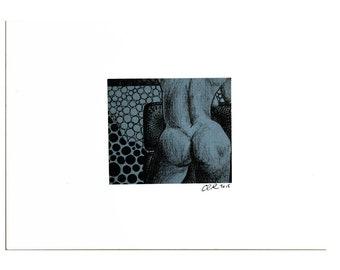 "Series II, #7 [2.3x2.75"" on 5x7 paperboard]"