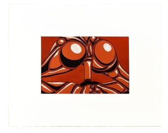 "R.C.A. [original drawing, 4x6"" in 8x10"" mat]"