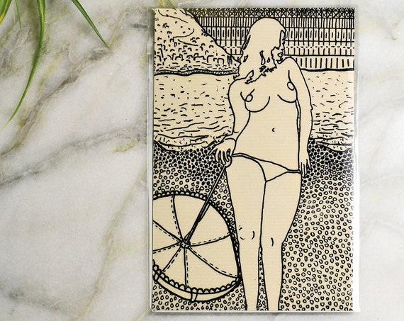 "Sunset Beach // 4x6"" print"