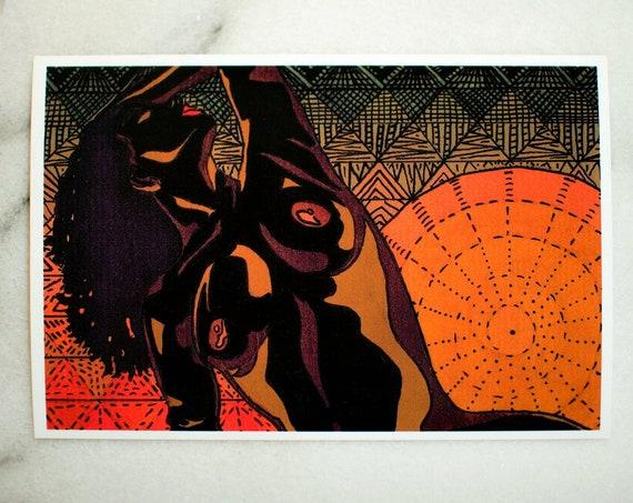 "Summer // 4x6"" print"