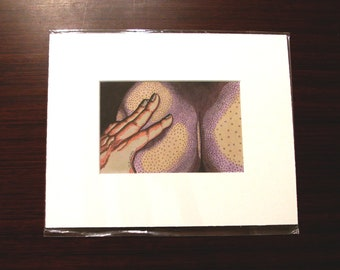 """Squeeze [varied edition print #4/4, 4x6"""" in 8x10"""" mat]"""