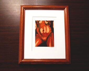 "Nicole [3.5x5.5"" in 9.5x11.5"" frame]"