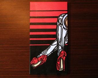 "Tanja [acrylic on canvas, 10x20""]"