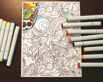 "Pure Lust 3 [print at home coloring page, 8.5x11""]"