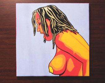 """Heather [acrylic on canvas, 12x12""""]"""
