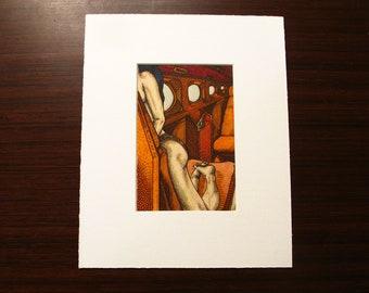"""Alex [varied edition print #3/4, 4x6"""" in 8x10"""" mat]"""
