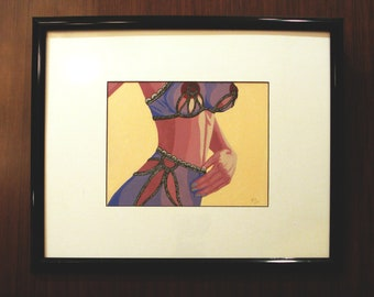 "Caroline [acrylic on paper, 9x12""/17x21"" frame]"