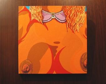 "Collar [acrylic on gallery canvas, 18x18""]"