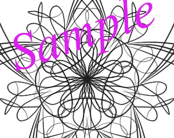 Mandala coloring page. Instant download