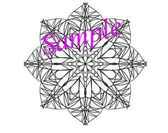 Instant Printable Mandala. Mandala coloring page.
