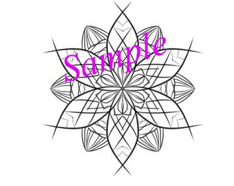 Mandala coloring page. Digital mandala.