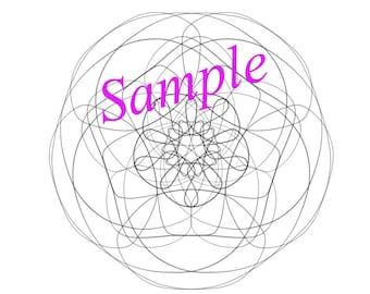 Mandala coloring page. Digital mandala