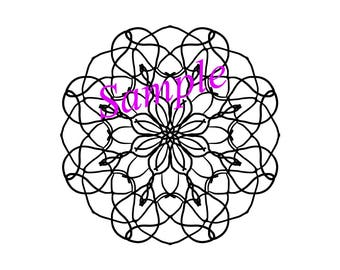 Mandala coloring page. Relax coloring page