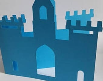 Birthday invitation - Theme Castle Knight - or make hand birth