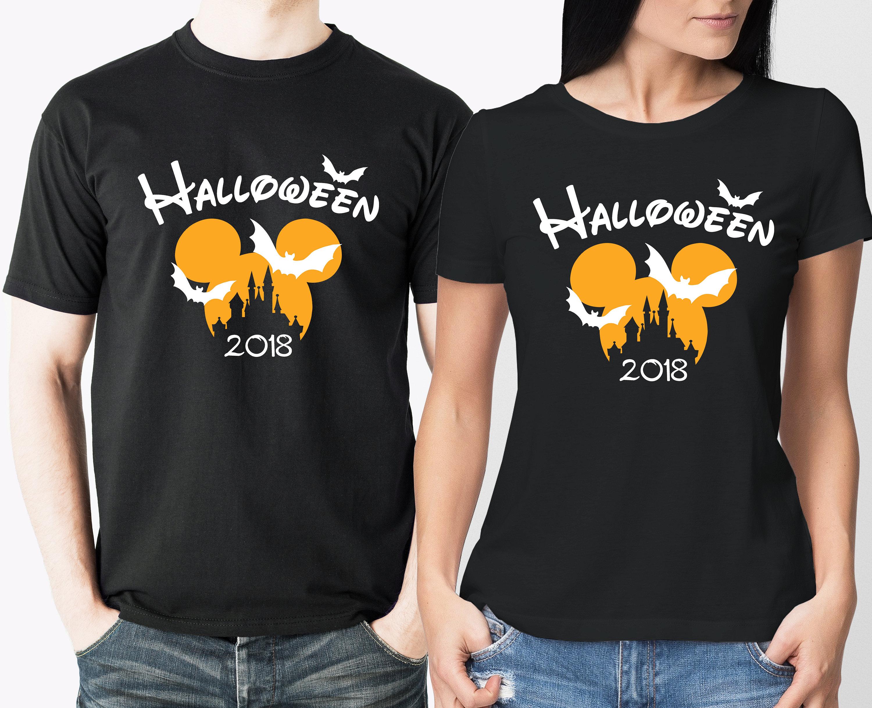 Mickey Maus sein und ihn passende Halloween schwarze T-shirts | Etsy