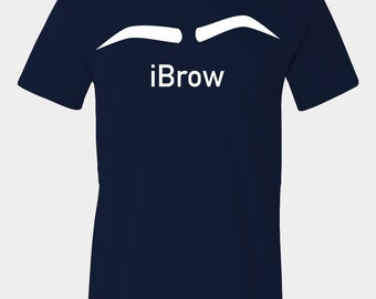 Men's funny eyebrows t-shirt with text iBrow.