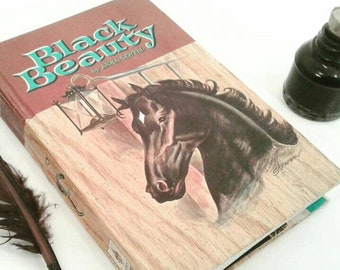 Black beauty journal, Repurposed book writing Journal, Lined Pages, Diary, notebook, gift for her, gift for teens, teacher gift, horse lover