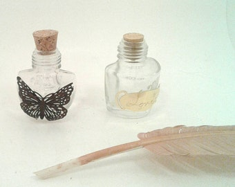 Butterfly inkwell, love inkwell, specialty inkwell, inkwell, ink well, stationary, ink bottle, inkwell, empty inkwell, black India ink