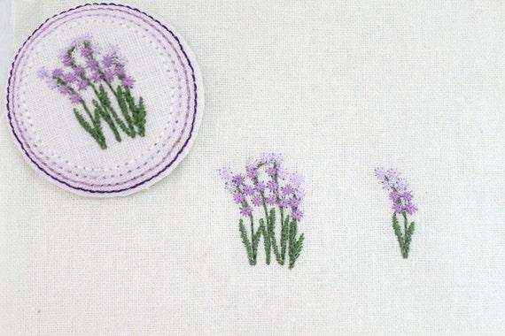 Machine Embroidered Pattern Design Lavender Two Digital Etsy