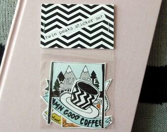 Twin Peaks 5 Sticker Set