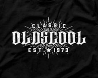 45th Birthday Gift Ideas For Men Man Oldscool Shirt In 1973 Age 45 Gifts Mens Tee CTM 1032