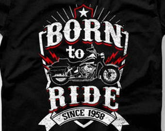 60th Birthday Gift Ideas For Men Man Biker T Shirt Motorcycle Gifts Age 60 Mens CTM 1004