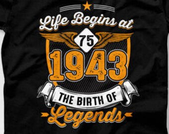 Funny Birthday T Shirt 75th Gift Ideas For Him Bday Present 75 Years Old Party B Day TShirt Mens Ladies Tee CTM 568