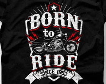 65th Birthday Gift Ideas For Men Man Biker T Shirt Motorcycle Gifts Age 65 Mens CTM 1003