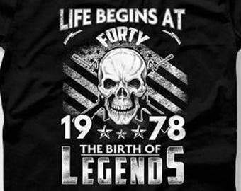 667a431a4c2 40th Birthday Gift For Men 40th Birthday Present Life Begins At 40 Born In 1978  40 Years Old Gifts For 40th Birthday Mens Tshirt CTM-1223