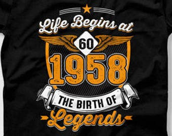 60th Birthday Gift Ideas For Men Man Bday Gifts Her Age 60 T Shirt Mens Ladies Tee CTM 571