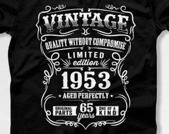 994969d130a 65th Birthday Gift For Man 65th Birthday T Shirt 65th Birthday Present Born  In 1953 65 Years Old Gifts For 65th Birthday Mens Tshirt CTM1014