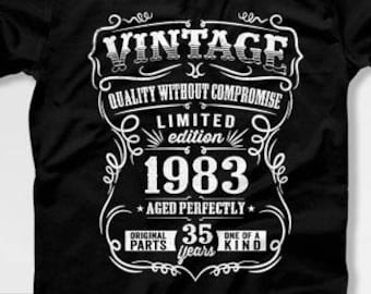 35th Birthday Gift For Men T Shirt Present Born In 1983 35 Years Old Gifts Mens Tshirt CTM1020