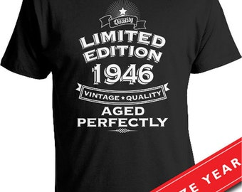 Birthday Gift Ideas For 70 Year Old 70th T Shirt Present Born In 1946 Gifts Mens Tshirt CTM 221