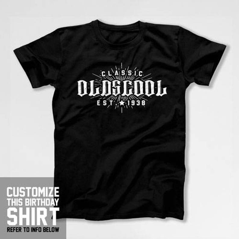 80th Gifts Ideas For Men Birthday Man Oldscool T