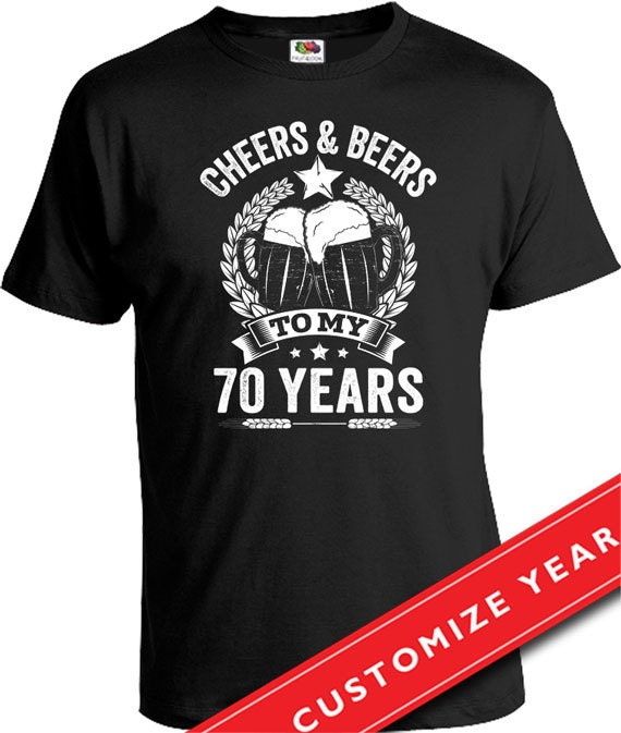 70th Birthday Gift Ideas For Men Man Cheers And